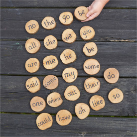 Wooden Tricky Word Pieces - All Phonic Phases