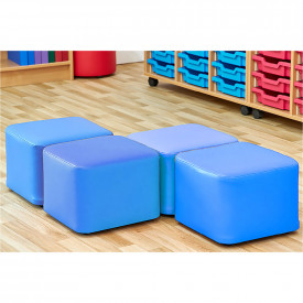 Set of Four Cube Foam Seats