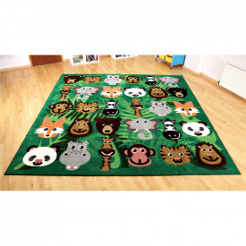 Wild Animals Square Placement Carpet