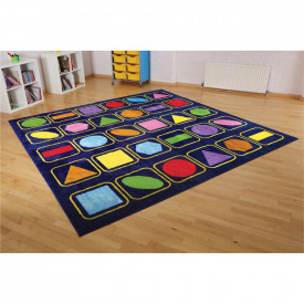 Geometric Shapes Square Placement Carpet
