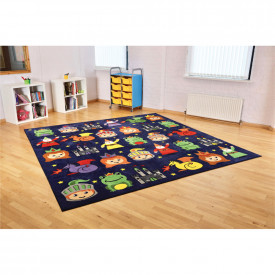Story Time Sqaure Placement Carpet