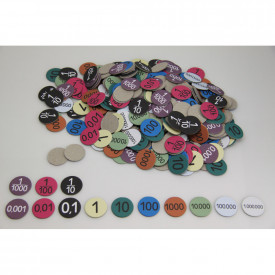 Recycled Place Value Counters