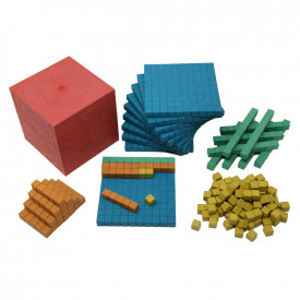 Re-Wood Dienes Base Ten Set 5 Colours