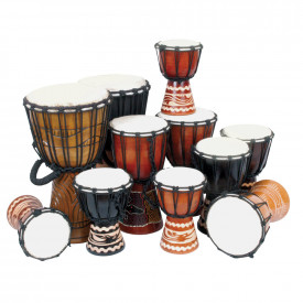 Beginners Djembe Drums Pack 11 Players