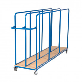 Vertical Gym Mat Trolley