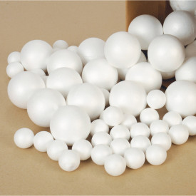 Polystyrene Balls and Eggs