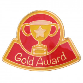 Reward Gold Silver Bronze Enamel Badges
