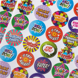 Praise Words and Thumbs Up Stickers