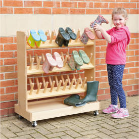 Outdoor Wooden Wellie Rack