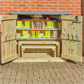 Wooden Wellie Store & Benches