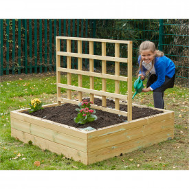 Wooden Planters with Trellis