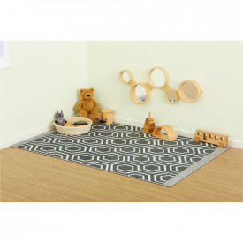 Hexagonal Patterned Rug