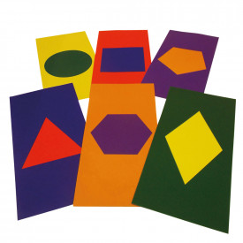 Coloured Mats with Printed Shapes