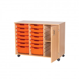 Mobile Tray and Shelf Cupboard Unit
