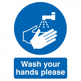 Wash Your Hands Please Sign