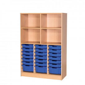 Open Tall Tray and Shelf Unit