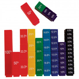 Fraction Tower Set Cubes