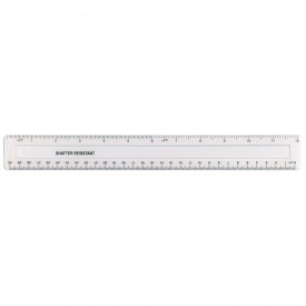 Clear Shatter Resistant 30cm Rulers