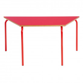 Trapezoidal Coloured Frame Table