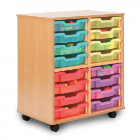 Allsorts 16 Shallow Tray Storage Unit