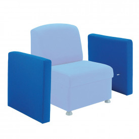 Value Glacier Upholstered Reception Chair Arm