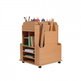 Large Mobile Art Trolley