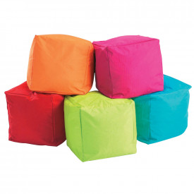 BIG DEAL Plain Cube Bean Bag 5 Pack Bundle