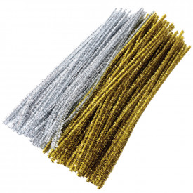 Gold and Silver Tinsel Stems