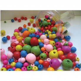 Coloured Wooden Beads