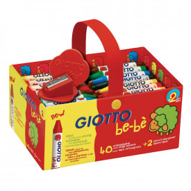 Giotto Be-Be Large Wax Crayons