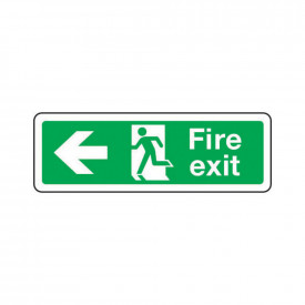 Fire Escape Signs - Arrow Left