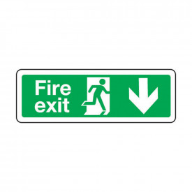 Fire Escape Signs - Arrow Down