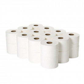 Micro Twin Toilet Rolls 2 Ply & Dispenser