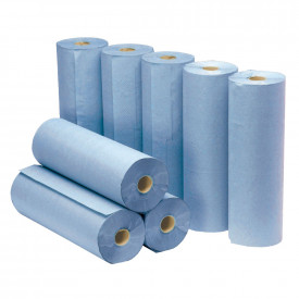 Hygiene/Couch Rolls Large Blue 2 Ply
