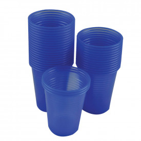Blue Plastic Water Cups