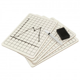 Consortium Mini Whiteboards with Grid Squares Kit