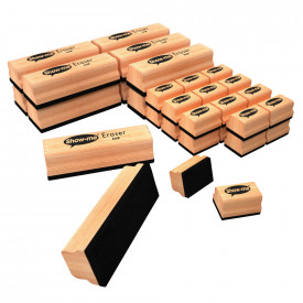Show-Me® Wooden Board Erasers