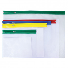 A3 Plastic Zip Wallets