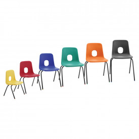 Hille Series E Skid Base Chair Fire Retardant Shell