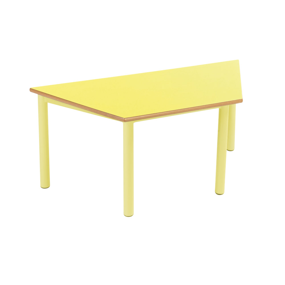 Trapezoid tables at early years for Trapezoid table