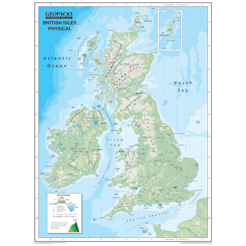 Reversible map of the british isles globes maps and atlases reversible map of the british isles globes maps and atlases geography curriculum resources the consortium education sciox Images