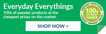 100s of popular products at the cheapest prices on the market. Shop our everyday everythings range now.