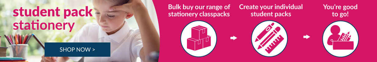 Student packs of stationery. Shop now