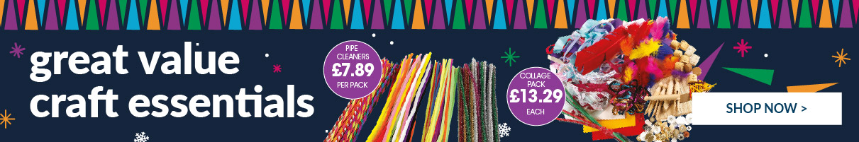 Discover our range of Great Value Festive Crafts! Shop Now.