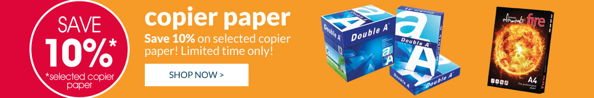 Save 10% on selected Copier Paper! Shop Now