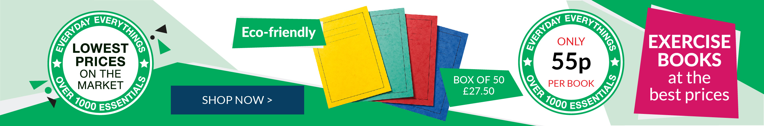Shop our fabulous range of Everyday Everythings Exercise Books!
