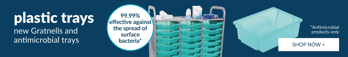 Gratnells antimicrobial trays