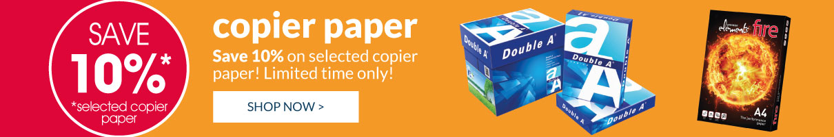Save 10% on selected Copier Paper