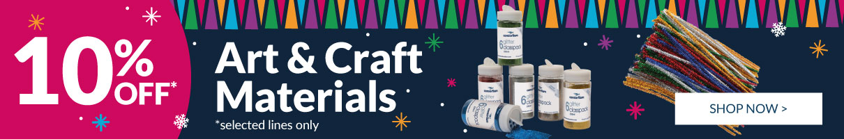 Save 10% on selected Festive Art & Crafts!
