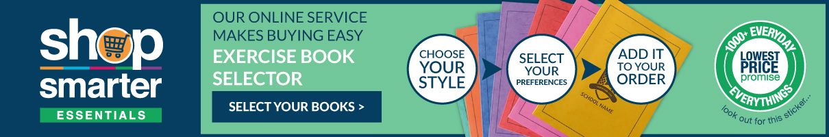 Shop our range of exercise books with our exercise book selector. Shop now.